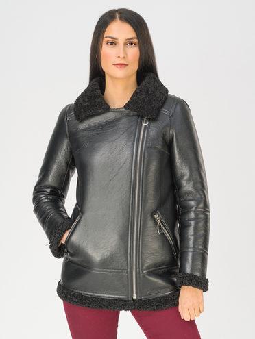 Дубленка эко-кожа 100% П/А, цвет черный, арт. 18810857  - цена 9990 руб.  - магазин TOTOGROUP