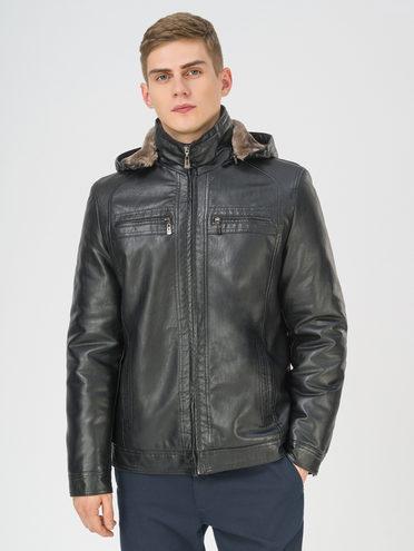 Кожаная куртка эко-кожа 100% П/А, цвет черный, арт. 18810860  - цена 4740 руб.  - магазин TOTOGROUP