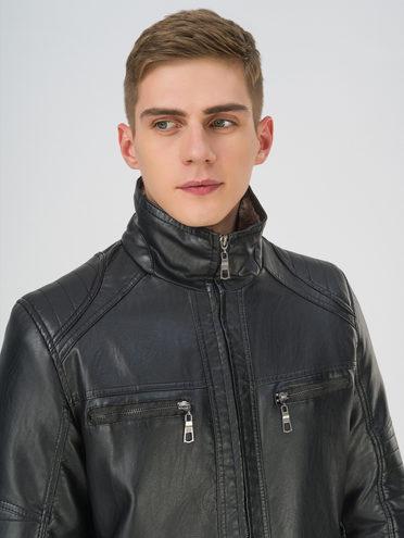 Кожаная куртка эко-кожа 100% П/А, цвет черный, арт. 18810863  - цена 4990 руб.  - магазин TOTOGROUP