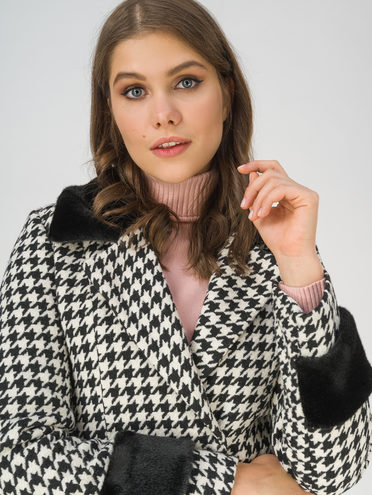 Текстильное пальто 70% полиэстер, 20% шесть, 10% вискоза, цвет черный, арт. 18810872  - цена 3990 руб.  - магазин TOTOGROUP