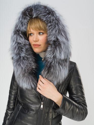 Кожаная куртка кожа баран, цвет черный металлик, арт. 18810909  - цена 31990 руб.  - магазин TOTOGROUP