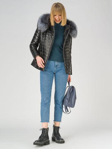 Кожаная куртка кожа баран, цвет черный металлик, арт. 18810913  - цена 26990 руб.  - магазин TOTOGROUP