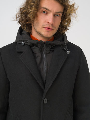 Текстильное пальто 100% полиэстер, цвет черный, арт. 18810919  - цена 5890 руб.  - магазин TOTOGROUP