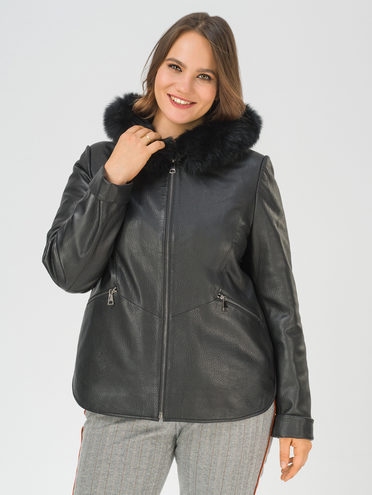 Кожаная куртка кожа баран, цвет черный, арт. 18810921  - цена 25590 руб.  - магазин TOTOGROUP