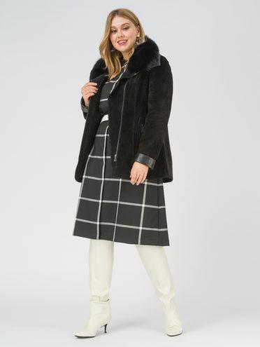 Кожаная куртка кожа замша, цвет черный, арт. 18810922  - цена 26990 руб.  - магазин TOTOGROUP