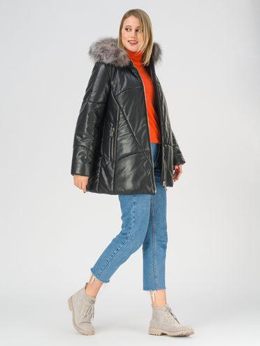Кожаная куртка эко-кожа 100% П/А, цвет черный, арт. 18810929  - цена 13390 руб.  - магазин TOTOGROUP