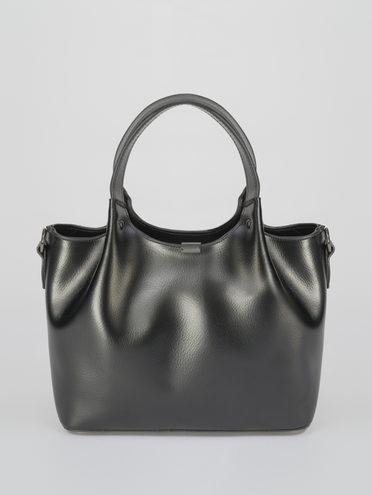 Сумка кожа теленок, цвет черный, арт. 18811033  - цена 4260 руб.  - магазин TOTOGROUP