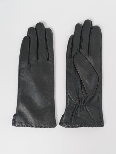 Перчатки кожа, цвет черный, арт. 18811061  - цена 1490 руб.  - магазин TOTOGROUP