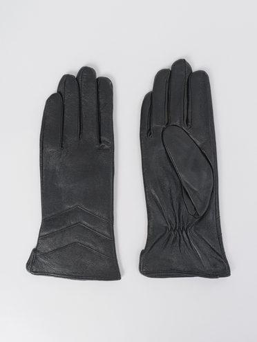Перчатки кожа, цвет черный, арт. 18811062  - цена 1490 руб.  - магазин TOTOGROUP