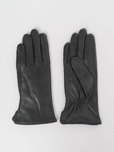 Перчатки кожа, цвет черный, арт. 18811065  - цена 1490 руб.  - магазин TOTOGROUP