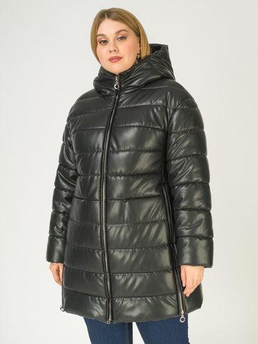 Кожаное пальто эко-кожа 100% П/А, цвет черный, арт. 18811075  - цена 10590 руб.  - магазин TOTOGROUP