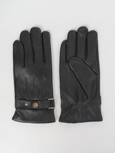Перчатки кожа коза, цвет черный, арт. 18811083  - цена 1260 руб.  - магазин TOTOGROUP