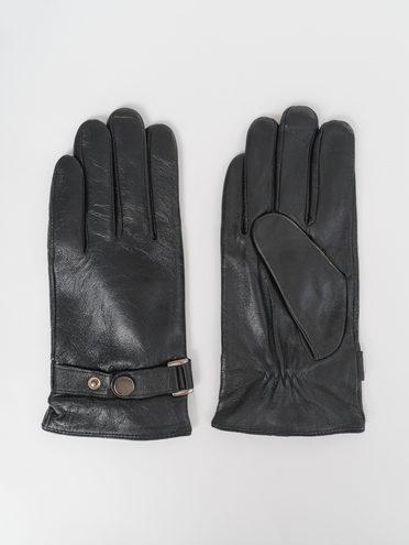 Перчатки кожа коза, цвет черный, арт. 18811084  - цена 1260 руб.  - магазин TOTOGROUP