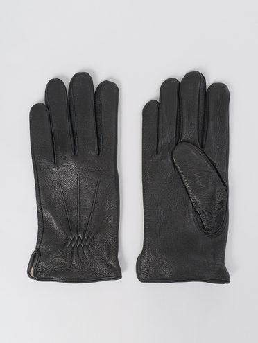 Перчатки кожа олень, цвет черный, арт. 18811089  - цена 1990 руб.  - магазин TOTOGROUP
