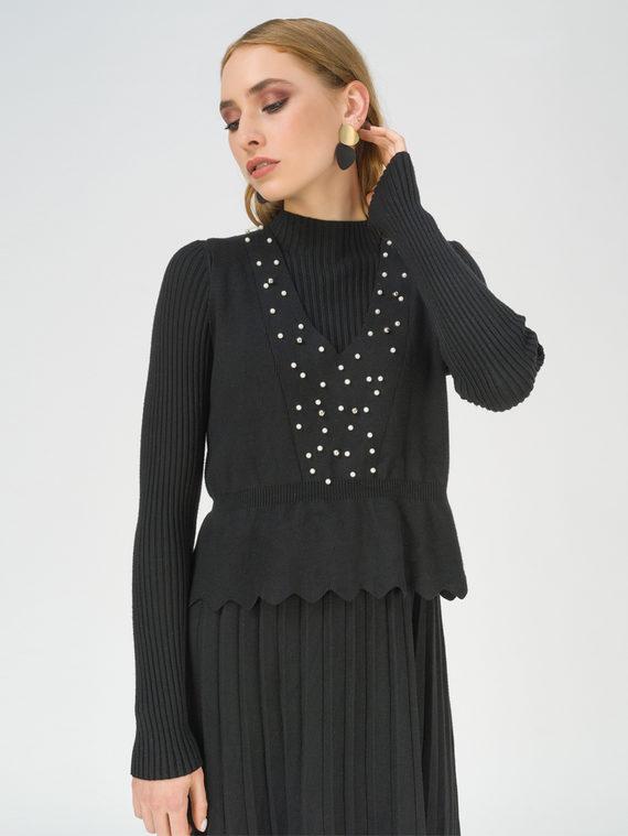 Платье 65% вискоза,35% нейлон, цвет черный, арт. 18811165  - цена 4260 руб.  - магазин TOTOGROUP