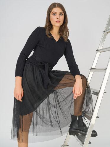 Платье 50% вискоза, 28% полиэстер, 22% нейлон, цвет черный, арт. 18811174  - цена 2170 руб.  - магазин TOTOGROUP