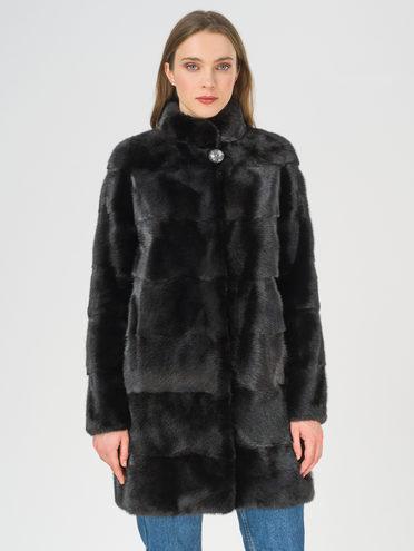 Шуба мех норка крашен., цвет черный, арт. 18811223  - цена 49990 руб.  - магазин TOTOGROUP