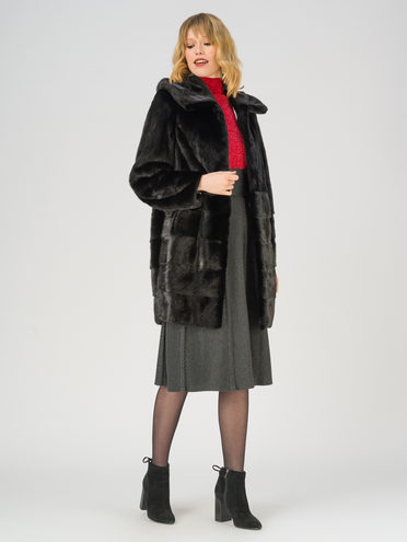 Шуба мех норка крашен., цвет черный, арт. 18811228  - цена 89990 руб.  - магазин TOTOGROUP