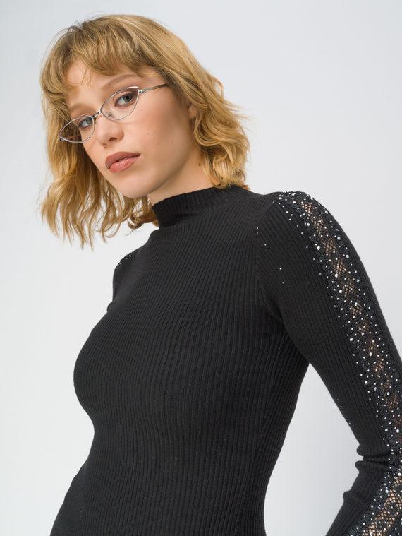 Джемпер 97%полиэстер, 3%эластан, цвет черный, арт. 18811300  - цена 1850 руб.  - магазин TOTOGROUP