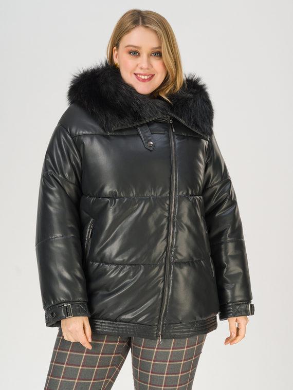 Кожаная куртка эко-кожа 100% П/А, цвет черный, арт. 18811359  - цена 6290 руб.  - магазин TOTOGROUP