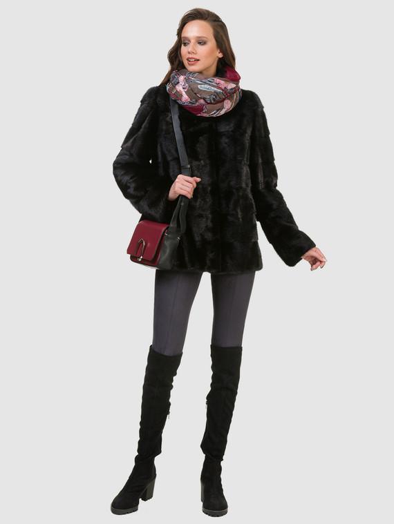 Шуба из норки мех норка, цвет черный, арт. 18900797  - цена 49990 руб.  - магазин TOTOGROUP