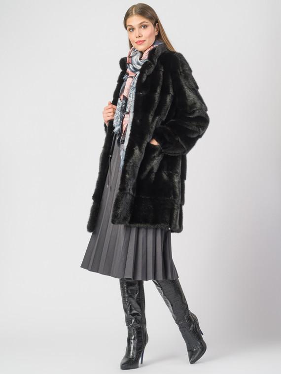 Шуба из норки мех норка, цвет черный, арт. 18900820  - цена 59990 руб.  - магазин TOTOGROUP
