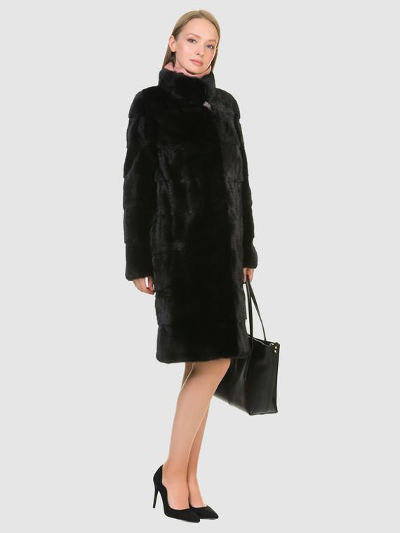 Шуба из норки мех норка, цвет черный, арт. 18900828  - цена 59990 руб.  - магазин TOTOGROUP