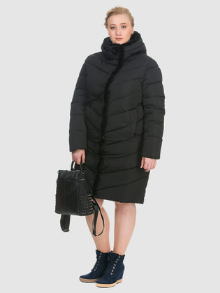 Пуховик текстиль, цвет черный, арт. 18900875  - цена 7490 руб.  - магазин TOTOGROUP