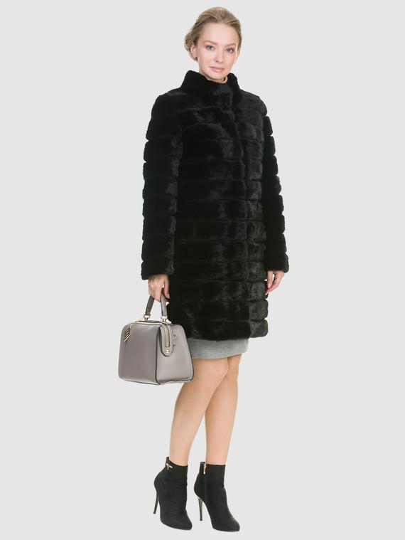 Шуба из норки мех норка, цвет черный, арт. 18900932  - цена 31990 руб.  - магазин TOTOGROUP