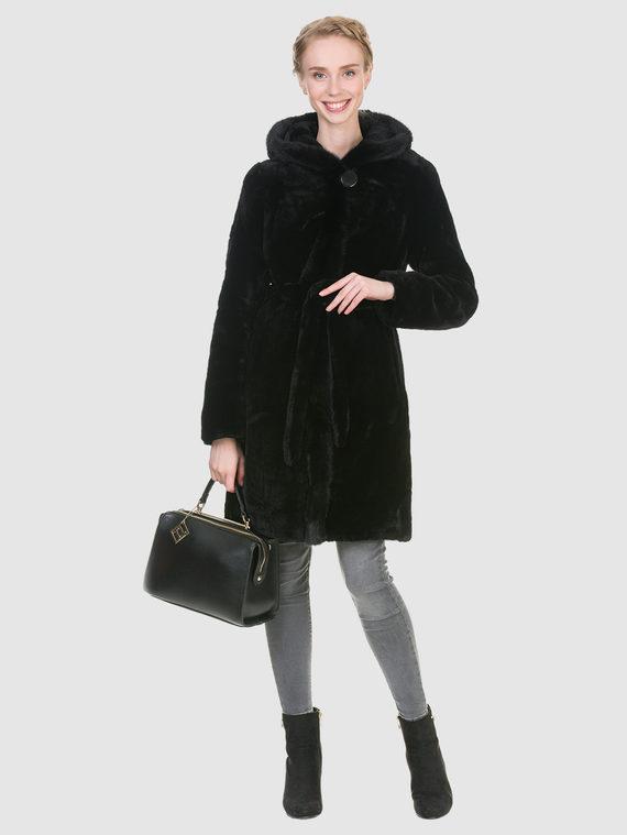Шуба из мутона мех мутон, цвет черный, арт. 18900936  - цена 23990 руб.  - магазин TOTOGROUP