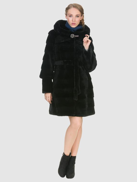 Шуба из мутона мех мутон, цвет черный, арт. 18900939  - цена 25590 руб.  - магазин TOTOGROUP