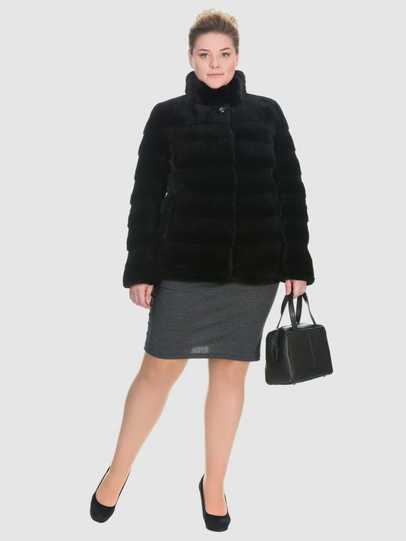 Шуба из мутона мех мутон, цвет черный, арт. 18900940  - цена 25590 руб.  - магазин TOTOGROUP