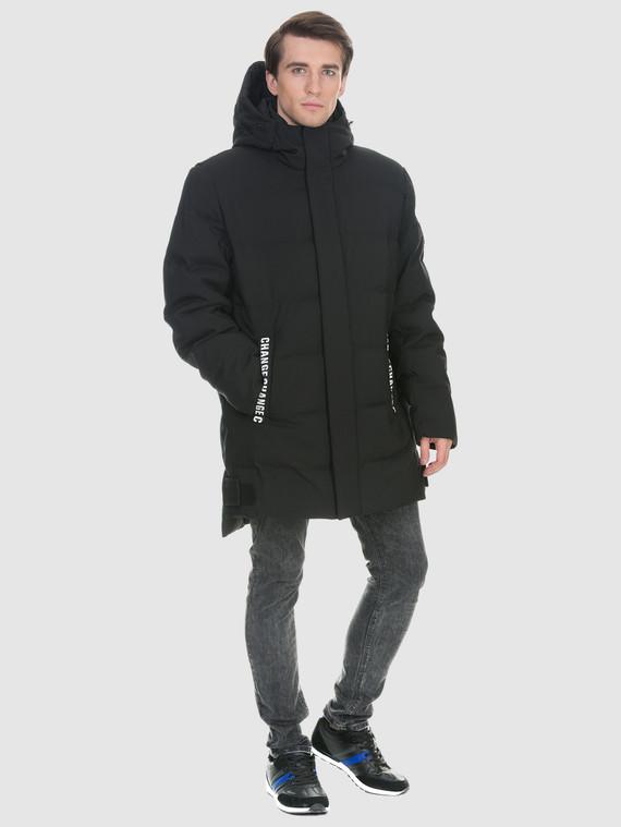 Пуховик текстиль, цвет черный, арт. 18901003  - цена 7490 руб.  - магазин TOTOGROUP