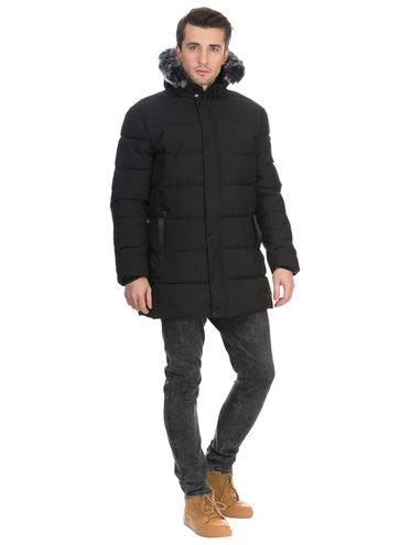 Пуховик текстиль, цвет черный, арт. 18901023  - цена 2990 руб.  - магазин TOTOGROUP