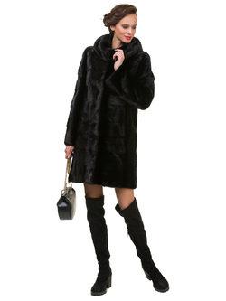 Шуба из норки мех норка крашеная, цвет черный, арт. 18901040  - цена 94990 руб.  - магазин TOTOGROUP