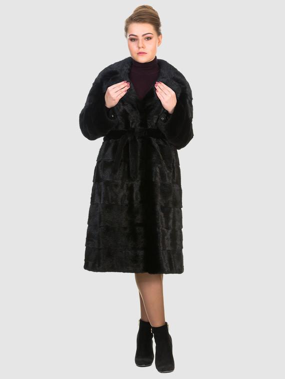 Шуба из норки мех норка, цвет черный, арт. 18901057  - цена 105990 руб.  - магазин TOTOGROUP