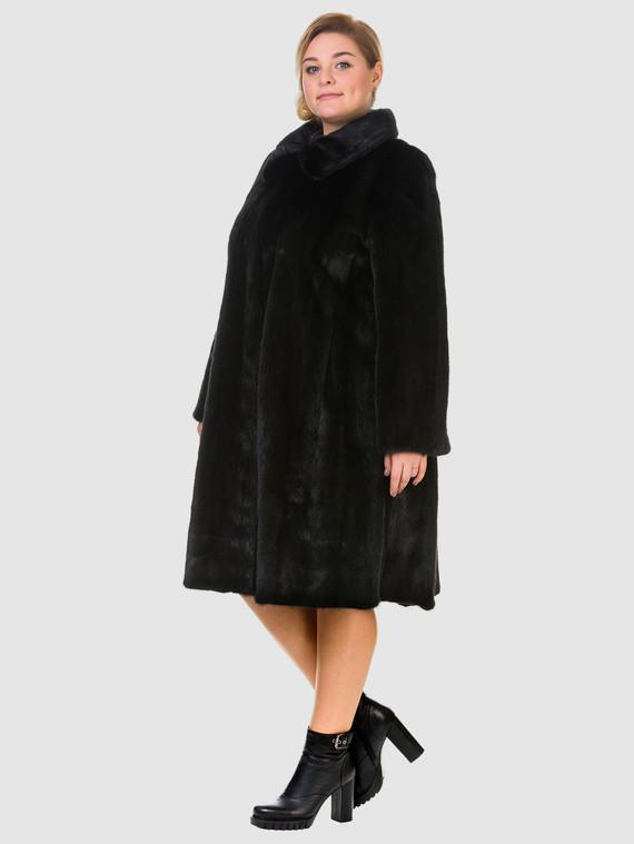 Шуба из норки мех норка, цвет черный, арт. 18901085  - цена 89990 руб.  - магазин TOTOGROUP