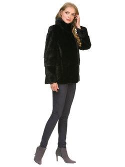 Шуба из норки мех норка крашеная, цвет черный, арт. 18901093  - цена 52990 руб.  - магазин TOTOGROUP