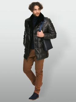 Кожаная куртка кожа овца, цвет черный, арт. 18901100  - цена 29990 руб.  - магазин TOTOGROUP