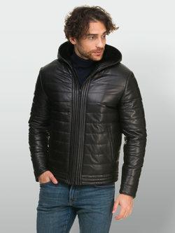 Кожаная куртка кожа овца, цвет черный, арт. 18901101  - цена 26990 руб.  - магазин TOTOGROUP
