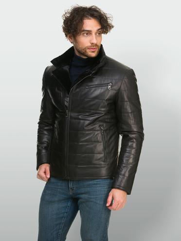 Кожаная куртка кожа , цвет черный, арт. 18901102  - цена 18990 руб.  - магазин TOTOGROUP