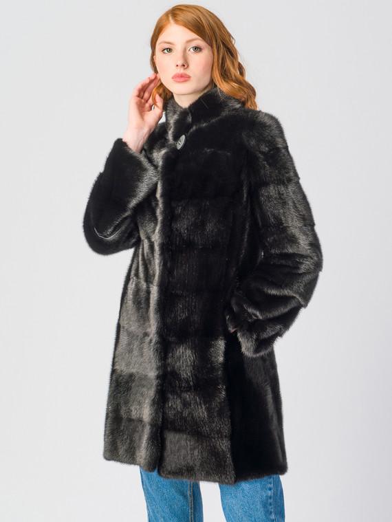 Шуба из норки мех норка, цвет черный, арт. 18901104  - цена 59990 руб.  - магазин TOTOGROUP