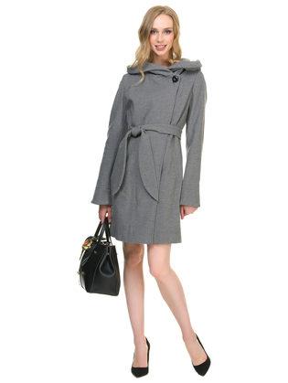 Текстильное пальто 30%шерсть, 70% п\а, цвет черный, арт. 18901144  - цена 6630 руб.  - магазин TOTOGROUP