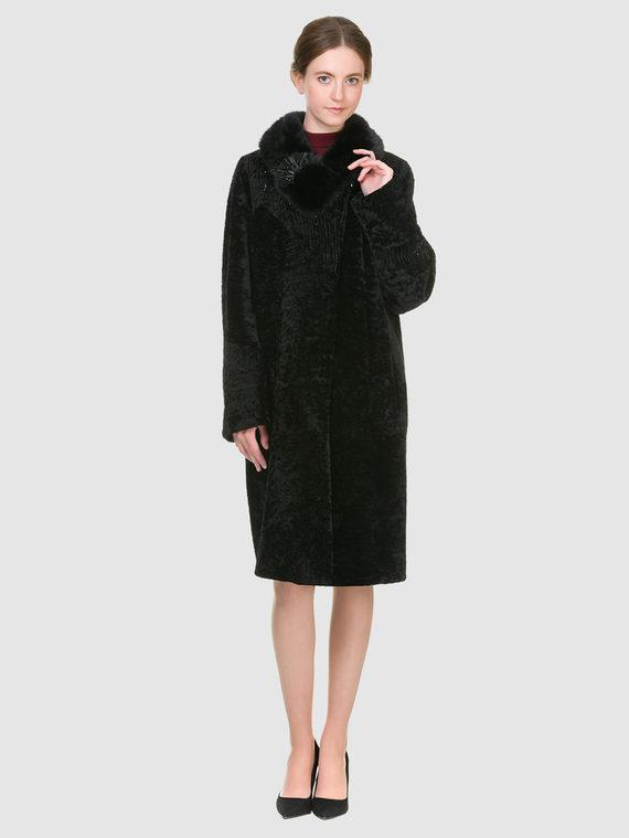 Шуба из мутона мех мутон, цвет черный, арт. 18901151  - цена 23990 руб.  - магазин TOTOGROUP