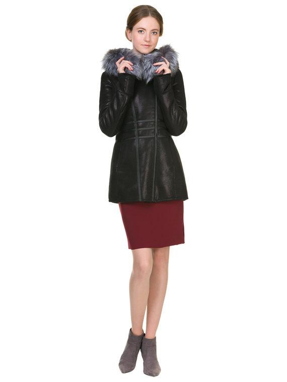 Дубленка эко-замша 100% П/А, цвет черный, арт. 18902620  - цена 7490 руб.  - магазин TOTOGROUP