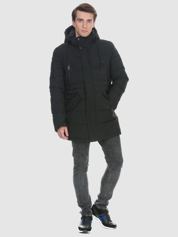 Пуховик текстиль, цвет черный, арт. 18902632  - цена 3990 руб.  - магазин TOTOGROUP