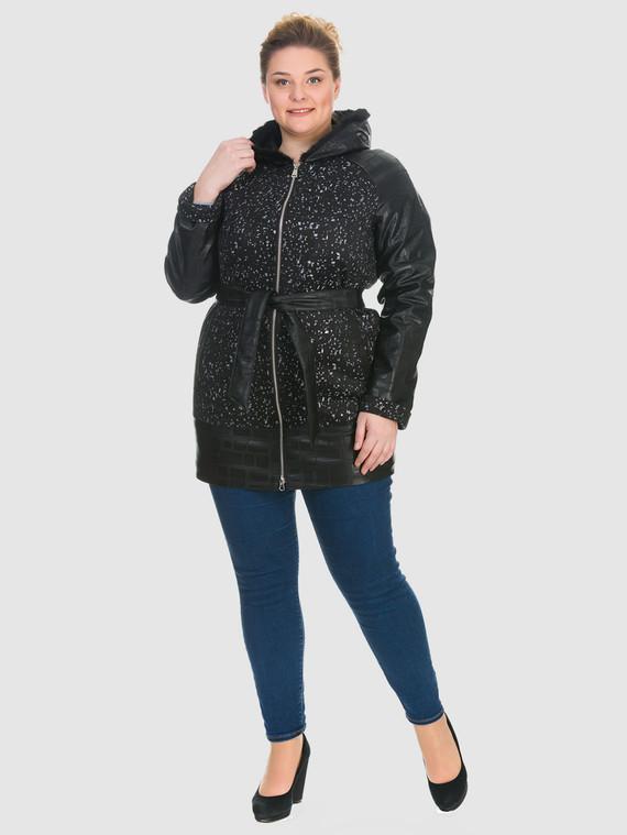 Кожаное пальто эко кожа 100% П/А, цвет черный, арт. 18902637  - цена 5290 руб.  - магазин TOTOGROUP