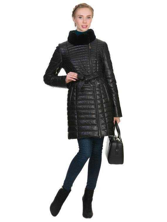 Кожаное пальто кожа , цвет черный, арт. 18902641  - цена 15990 руб.  - магазин TOTOGROUP