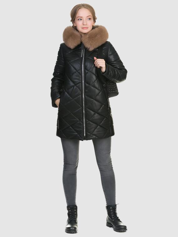 Кожаное пальто эко-кожа 100% П/А, цвет черный, арт. 18902653  - цена 6290 руб.  - магазин TOTOGROUP