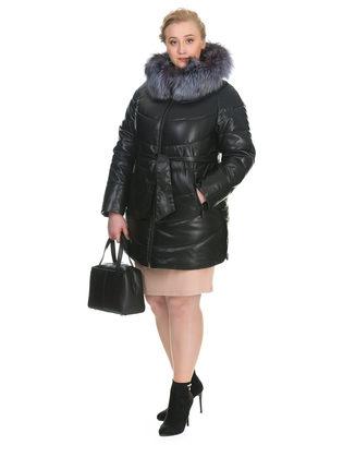 Кожаная куртка эко кожа 100% П/А, цвет черный, арт. 18902655  - цена 18990 руб.  - магазин TOTOGROUP